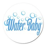 Water Baby Bubbles Round Car Magnet