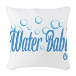 Water Baby Bubbles Woven Throw Pillow