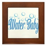 Water Baby Bubbles Framed Tile