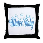 Water Baby Bubbles Throw Pillow