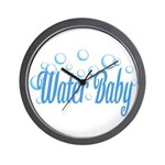 Water Baby Bubbles Wall Clock
