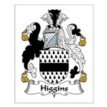 Higgins Family Crest Small Poster