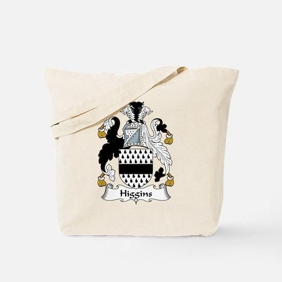 Higgins Family Crest Tote Bag