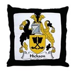 Hickson Family Crest Throw Pillow