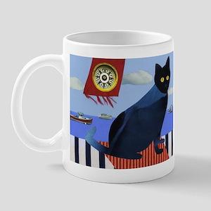 Blue Cat & Lobster Boats Mug