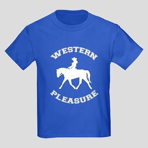 Western Pleasure Cowgirl Kids Dark T-Shirt