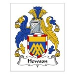 Hewson Family Crest Small Poster