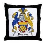 Hewson Family Crest Throw Pillow