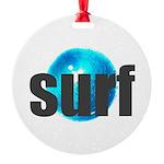 Surf Gray Blue Water Drop Ornament