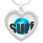 Surf Gray Blue Water Drop Necklaces