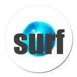 Surf Gray Blue Water Drop Round Car Magnet
