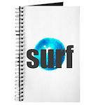 Surf Gray Blue Water Drop Journal