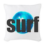 Surf Gray Blue Water Drop Woven Throw Pillow