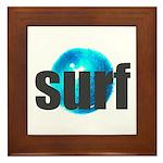 Surf Gray Blue Water Drop Framed Tile