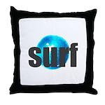 Surf Gray Blue Water Drop Throw Pillow