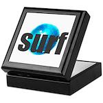 Surf Gray Blue Water Drop Keepsake Box