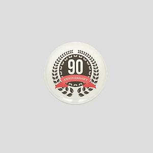 90 Years Anniversary Laurel Badge Mini Button