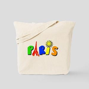 Colorful Paris / Eiffel Tower Tote Bag