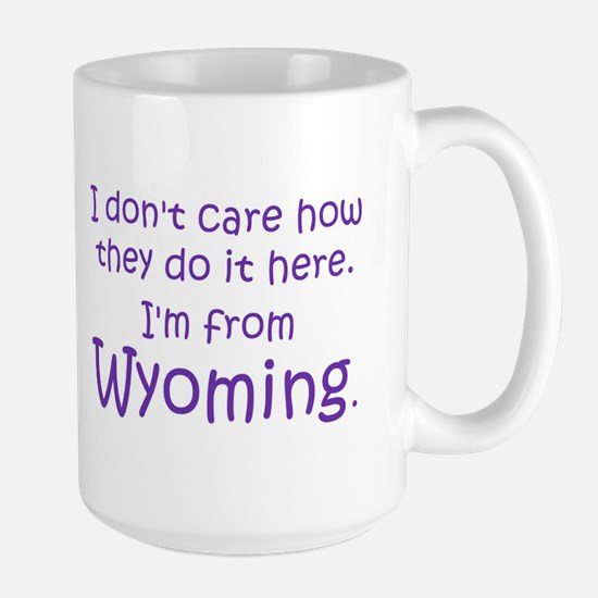 From Wyoming Large Mug