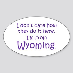 From Wyoming Oval Sticker