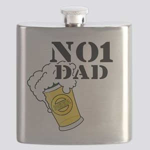 No1 Dad Flask