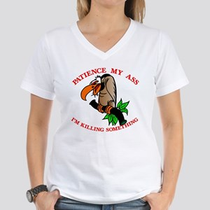 Patience My Ass Buzzard Women's V-Neck T-Shirt