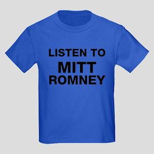 Listen to Mitt Romney Kids Dark T-Shirt