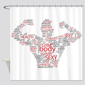 Fit Body Shower Curtain
