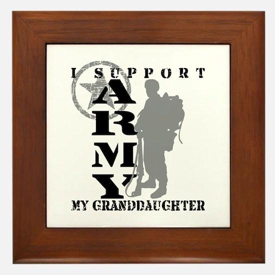 I Support Granddaughte 2 - ARMY Framed Tile