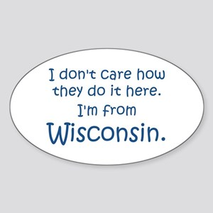 From Wisconsin Oval Sticker