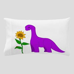 Sauropod and Sunflower Pillow Case