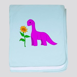 Sauropod and Sunflower baby blanket