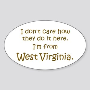 From West Virginia Oval Sticker
