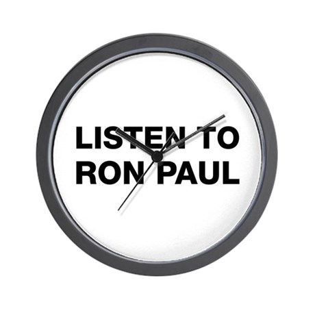 Listen to Ron Paul Wall Clock
