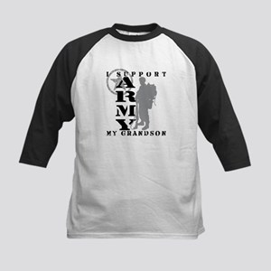 I Support Grandson 2 - ARMY Kids Baseball Jersey