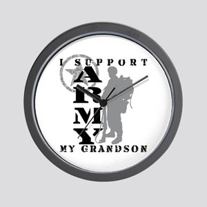 I Support Grandson 2 - ARMY Wall Clock
