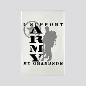 I Support Grandson 2 - ARMY Rectangle Magnet