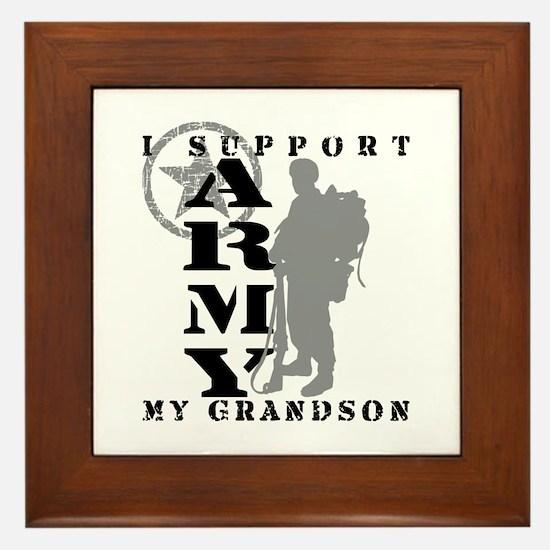 I Support Grandson 2 - ARMY Framed Tile