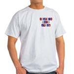 Welcome Home Daddy (blocks) Light T-Shirt