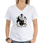 Hawkesworth Family Crest Women's V-Neck T-Shirt