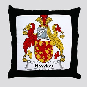 Hawkes Family Crest Throw Pillow