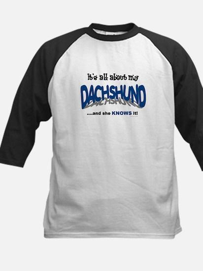 All About My Dachshund (She) Kids Baseball Jersey