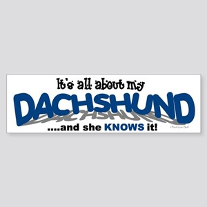 All About My Dachshund (She) Bumper Sticker