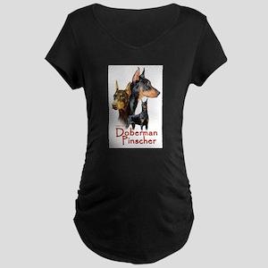 Doberman Pincher-1 Maternity Dark T-Shirt