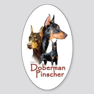 Doberman Pincher-1 Oval Sticker
