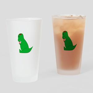 T-Rex Ice Cream Cone Drinking Glass