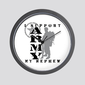 I Support Nephew 2 - ARMY Wall Clock