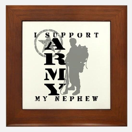 I Support Nephew 2 - ARMY Framed Tile