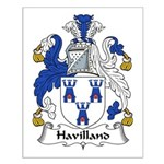 Havilland Family Crest Small Poster