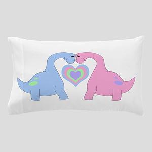 Adoring Apatosaurus Pillow Case